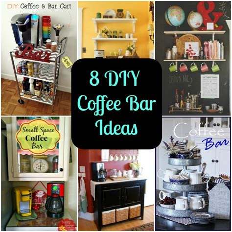 Cafe Kitchen Decorating Ideas - 8 diy coffee bar ideas for your home diy for life