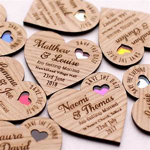 save the date wood heart magnet wooden wedding magnets With wedding invitation magnets uk