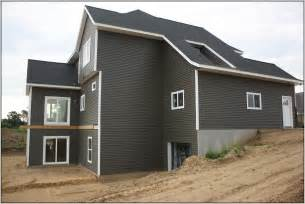 Dark Grey Houses with Vinyl Siding