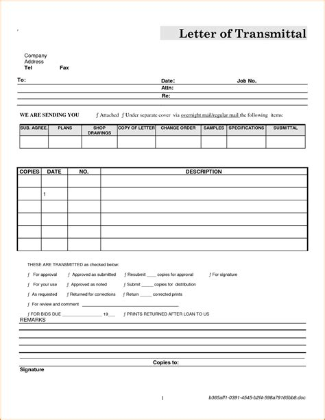 letter of transmittal exle 23 images of transmittal sheet template leseriail 51588