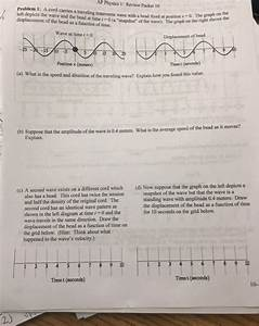 Solved  Ap Physics 1  Review Packet 10 S Problem 1  A Cord