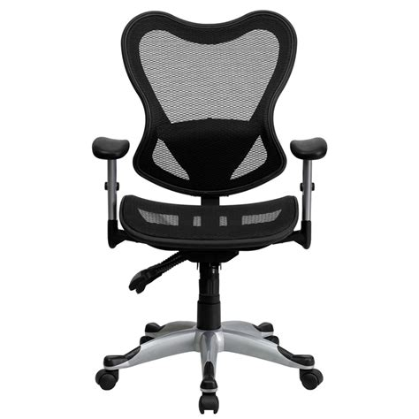 mid back black mesh executive swivel office chair with