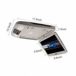 12 U0026quot  Car Roof Mounted Dvd Player Monitor Flip Down Video