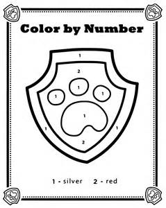 PAW Patrol Coloring Pages Color by Number