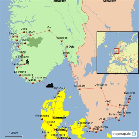 Become part of the community and help to improve the project. StepMap - Dänemark Norwegen Schweden 2016 - Landkarte für Deutschland