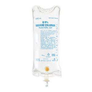 Normal Saline IV Solution Bag