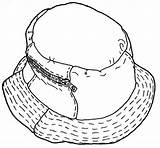 Coloring Clothing Sombrero Prendas Vestir Pinta Recorta Pintar sketch template