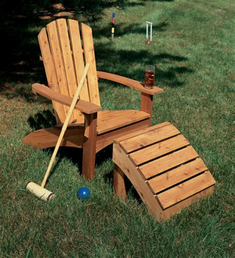 adirondack chair ottoman table woodsmith plans