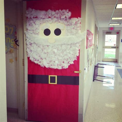 decorated classroom door santa  ripped  cotton