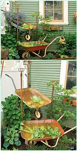 Diy Wheelbarrow Garden Projects  U0026 Instructions
