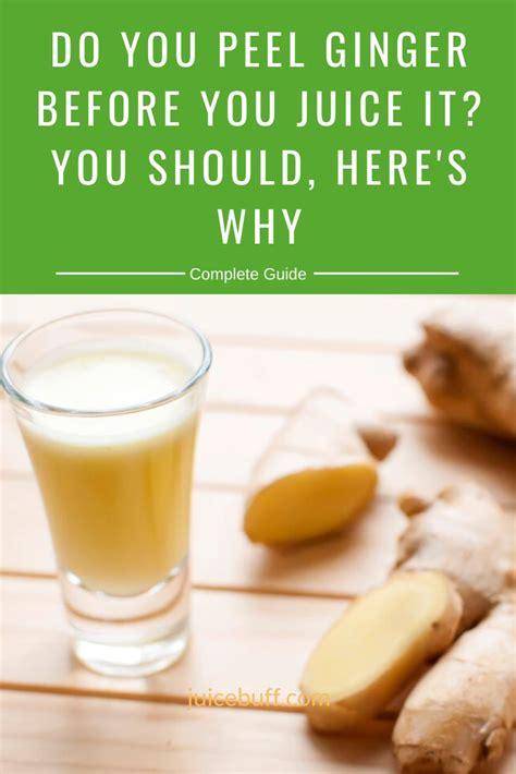 ginger juice peel turmeric juicing before