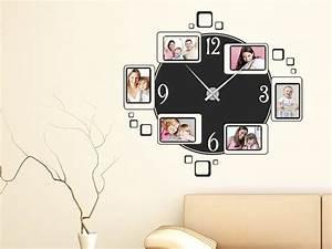 Uhren Für Wohnzimmer : wandtattoo uhr fotorahmen wanduhr wandtattoo de ~ Pilothousefishingboats.com Haus und Dekorationen