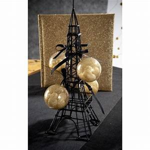 Tour Eiffel Deco : tour eiffel m tal noir d coration 28 5 cm ~ Teatrodelosmanantiales.com Idées de Décoration