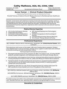 Cover Letter For Nurse Resumes Nurse Trainer Resume Sample Monster Com
