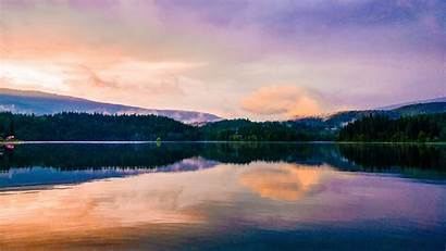 Reflection Lake Sunset 5k Mirror Scenic Wallpapers