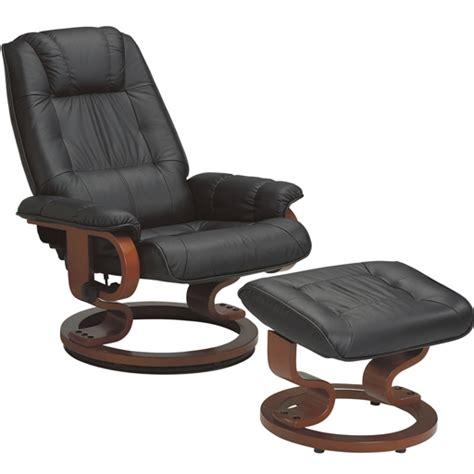 pub canapé fauteuil massant avec pouf en cuir pied pivotant de techniform