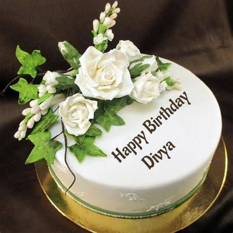 And make everyone at the table request a slice. Divya Name Happy birthday cake images | wallpapers in 2020 ...