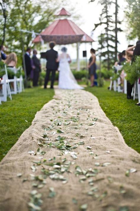 Outdoor Rustic Weddings burlap runner Isle runners