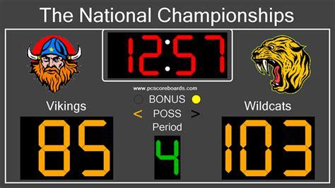 basketball scoreboard standard    computer