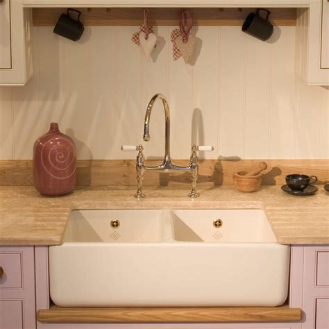 Shaws Classic 800 Double Ceramic Sink  Kitchen Sinks & Taps