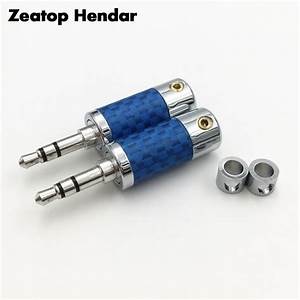 2pcs Rhodium Plated Plug 3 5mm 3 Pole Stereo Male Audio