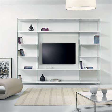 libreria per soggiorno byblos libreria porta tv per soggiorno in legno e vetro