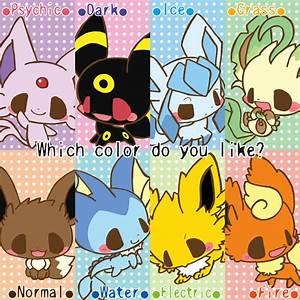 chibi pokemon eevee evolutions by neoncookies987 on DeviantArt