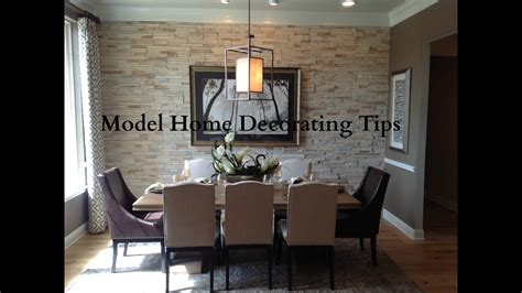 model home decorating tips youtube