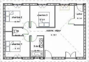 pavillon de plain pied en maconnerie avec 3 chambres With idee de plan de maison 1 plans construction de notre maison en ossature bois
