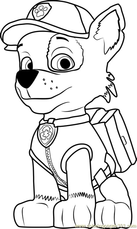 rocky coloring page  paw patrol coloring pages coloringpagescom