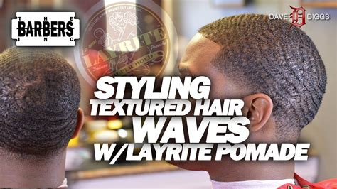 Textured Ethnic / Black Hair With Layrite Pomade