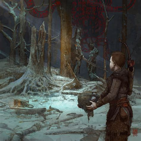 God Of War A Call From The Wilds Illustrations By Vance