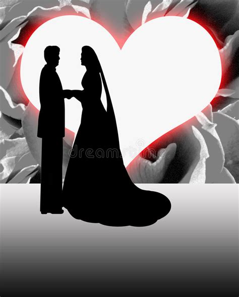 silhouette bride  groom heart shaped moon royalty