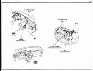 Where Is The Location Of A Knock Sensor For A 2003 Kia Spectra