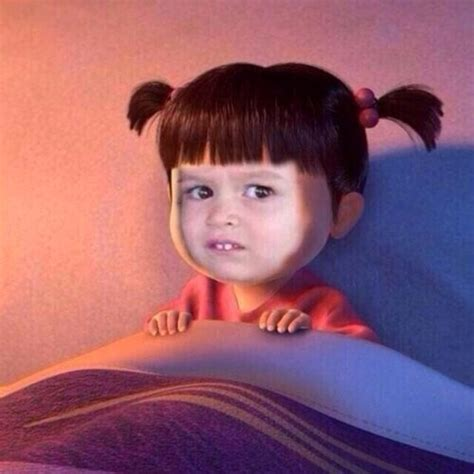Chloe Disneyland Meme - unimpressed chloe is boo from monster s inc