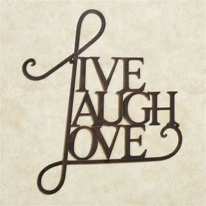 live laugh love metal word wall art With word wall art