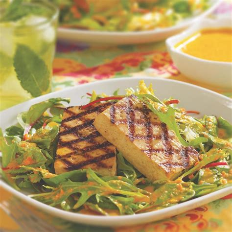grilled tofu asian style grilled tofu with greens recipe eatingwell