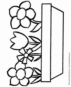 easy flower coloring pages - easy coloring pages free printable flowers in a pot easy