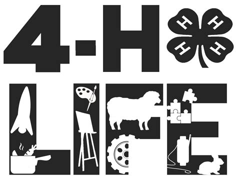 It should be everything you need for your next project. Free 4-H Life #SVG File #Cricut | 4 h, Cricut, Free design