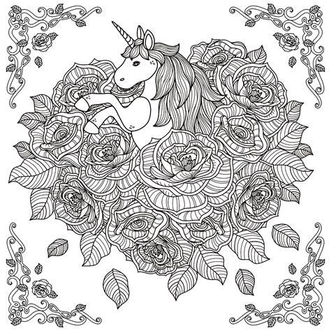 unicorn mandala unicorns adult coloring pages