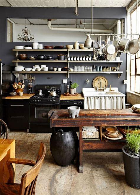 table cuisine style industriel cuisine industrielle contemporaine en 50 photos formidables