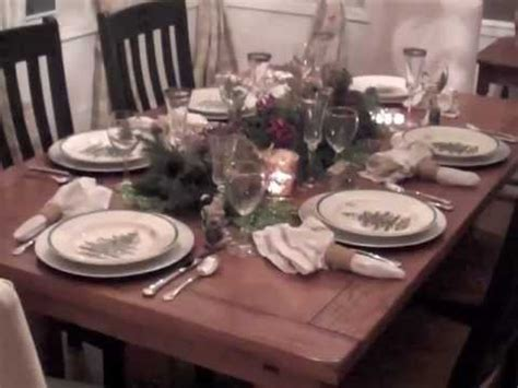 how to decorate table for christmas youtube