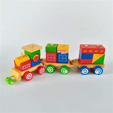 kereta balok mainan kayu sebutik edutoys