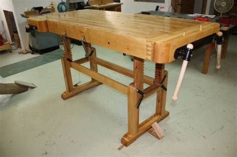wood work adjustable height woodworking bench pdf plans