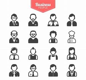 16 models of business people icons – vector graphics | My ...