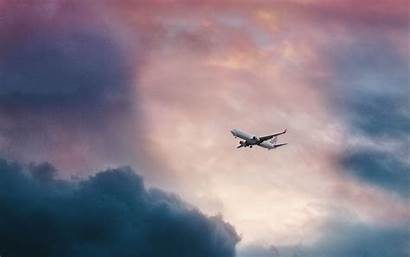 Airplane Flight Clouds Sky 4k Background Ultra