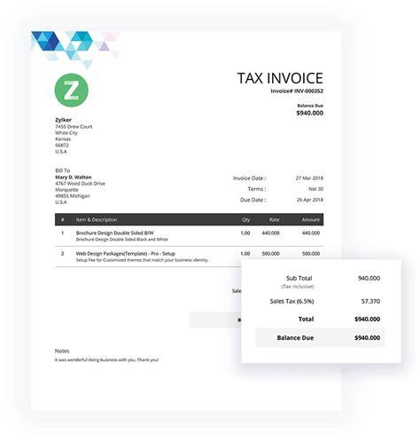 invoice templates  invoice template zoho