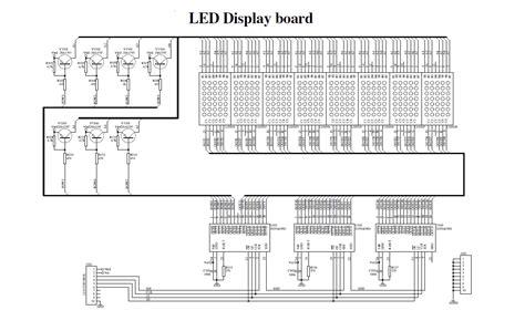 Dot Matrix Led Running Display Electronics Lab