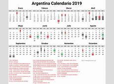 Calendario 2019 Argentina Calendario 2019 Calendario Para