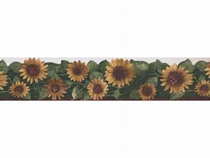 Sunflower Borders Border Wall Leaf Prepasted Ft